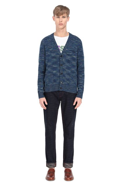MISSONI Cardigan Blue Man - Front