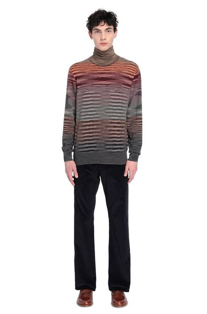 MISSONI Sweater Brown Man - Front