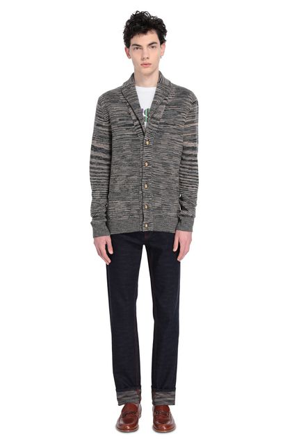 MISSONI Cardigan Grey Man - Front