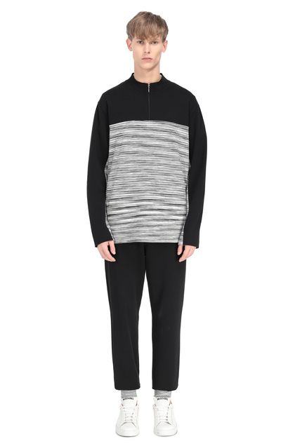 MISSONI Zip Jumper Black Man - Front