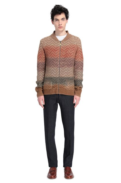 MISSONI Cardigan Light brown Man - Front