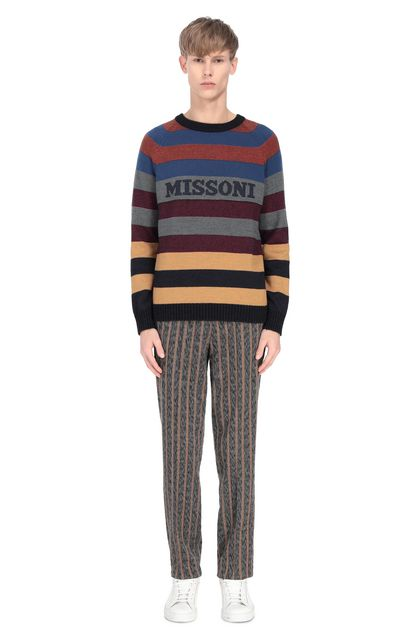 MISSONI Sweater Grey Man - Front