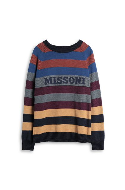 MISSONI Sweater Grey Man - Back