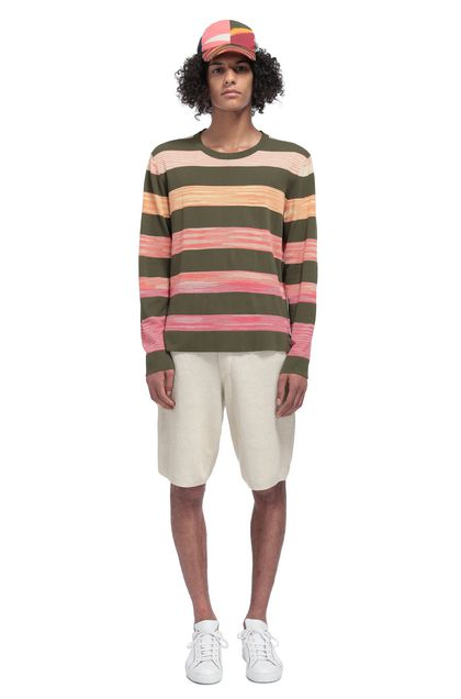 MISSONI Crew-neck Military green Man - Front