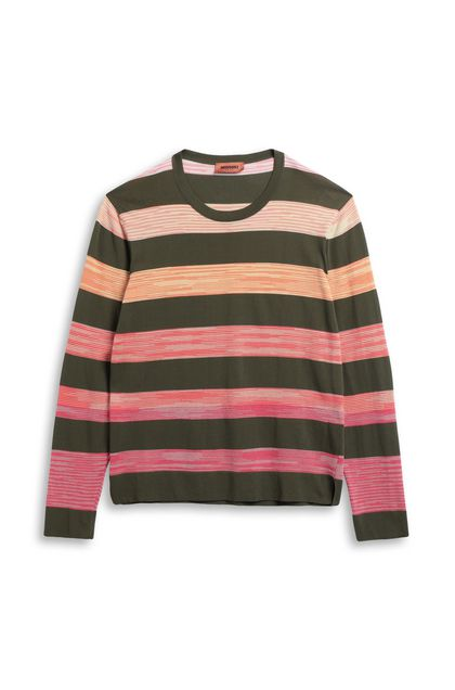 MISSONI Crew-neck Military green Man - Back