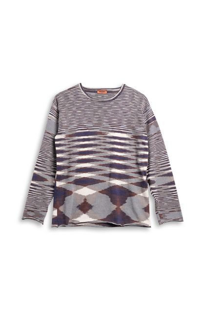 MISSONI Crew-neck Purple Man - Back