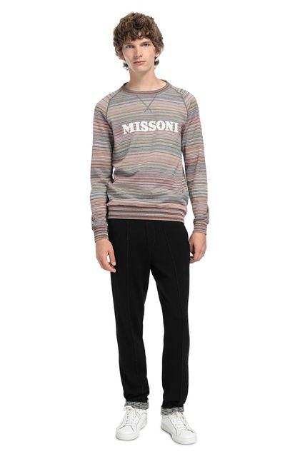 MISSONI Sweatshirt Blue Man - Front