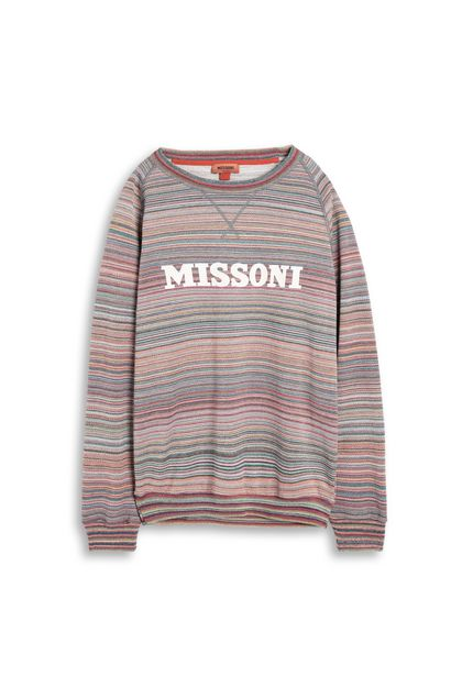 MISSONI Sweatshirt Blue Man - Back