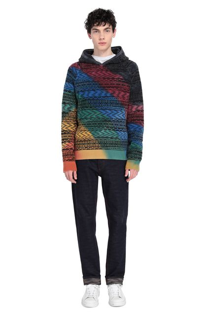 MISSONI Sweat-shirt Rouge Homme - Devant