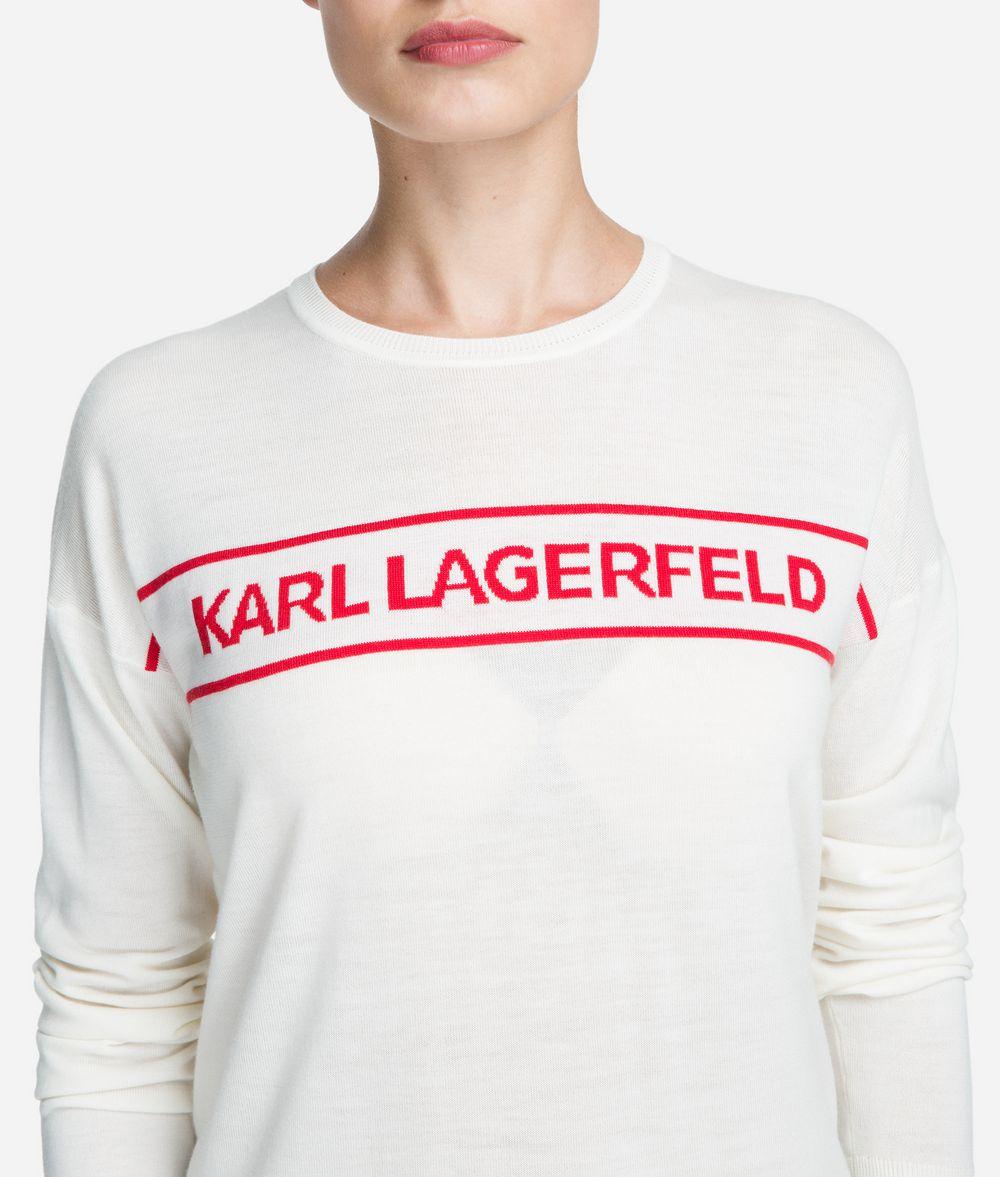 KARL LAGERFELD Wool Logo Sweater Sweater Woman d