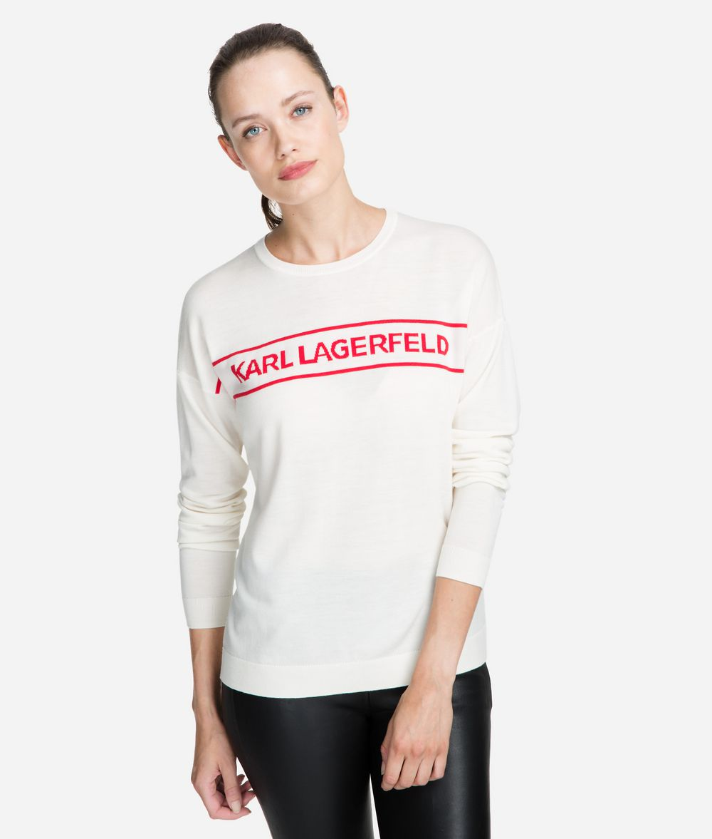 KARL LAGERFELD Wool Logo Sweater Sweater Woman f