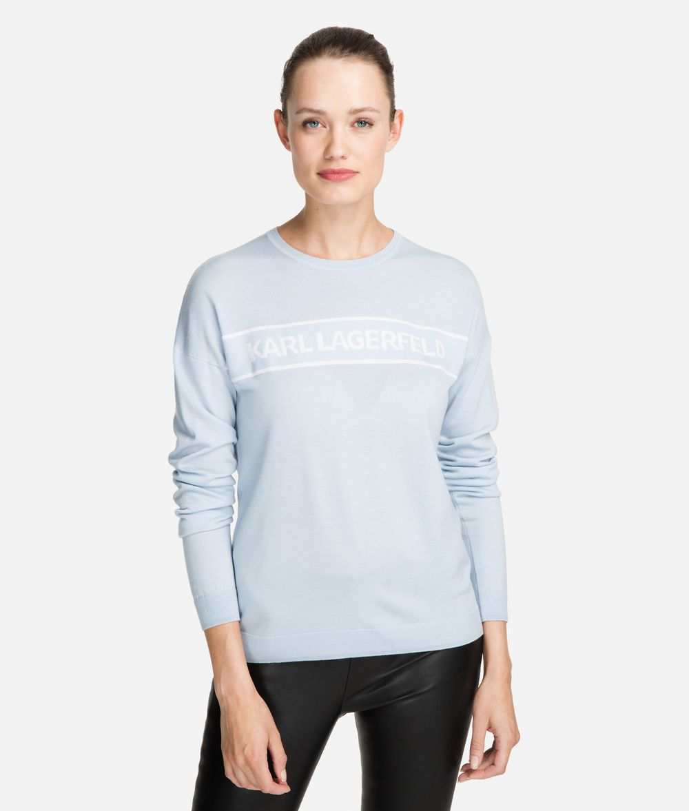 KARL LAGERFELD Wool Logo Jumper Sweater Woman f