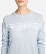 KARL LAGERFELD Wool Logo Jumper Sweater Woman d