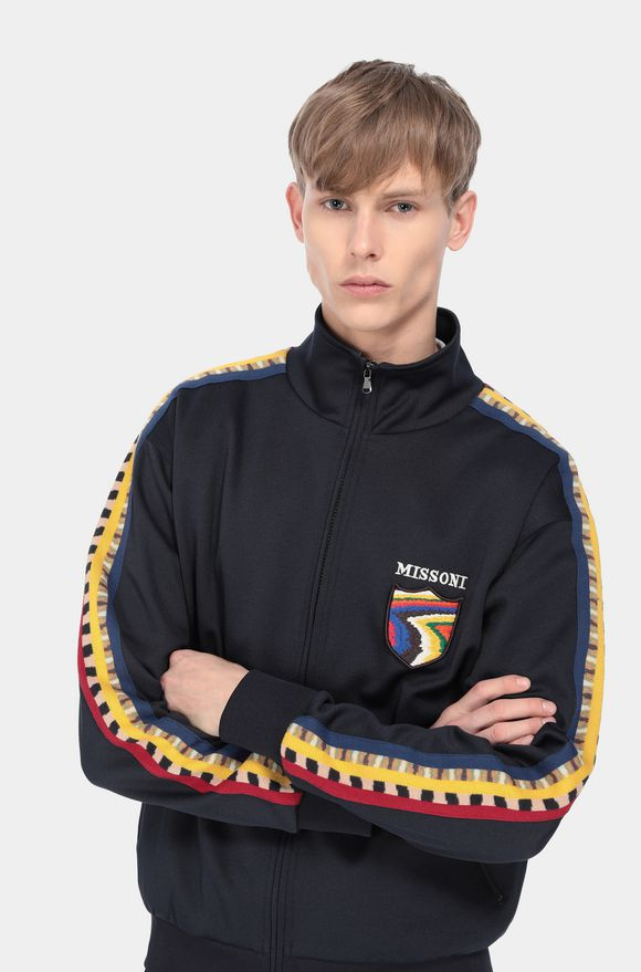 MISSONI Zip Jumper Dark blue Man