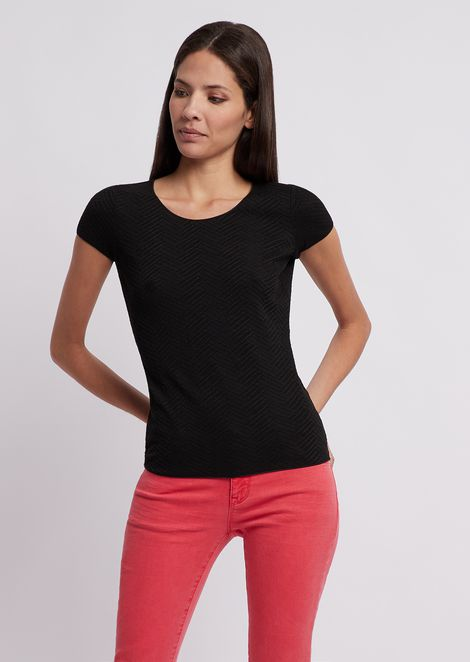 EMPORIO ARMANI Knitted Top Woman f