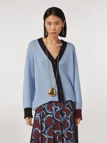 Marni Color block cashmere cardigan Woman