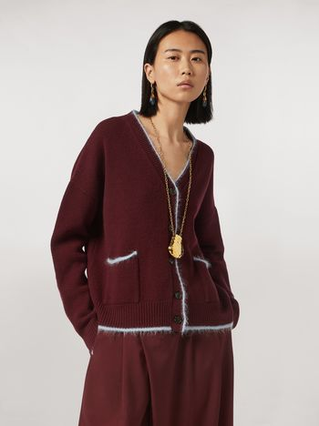 Marni Virgin wool mohair cardigan with contrasting-colored stripe Woman