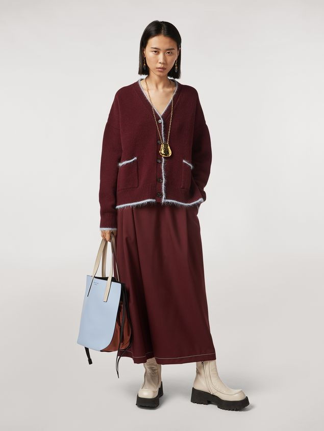 Marni Virgin wool mohair and nylon cardigan with contrasting-colored stripe Woman - 5