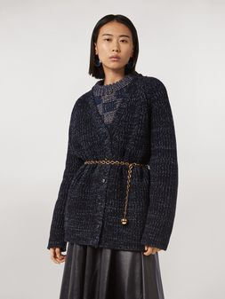 Marni Ribbed cardigan in virgin wool Woman
