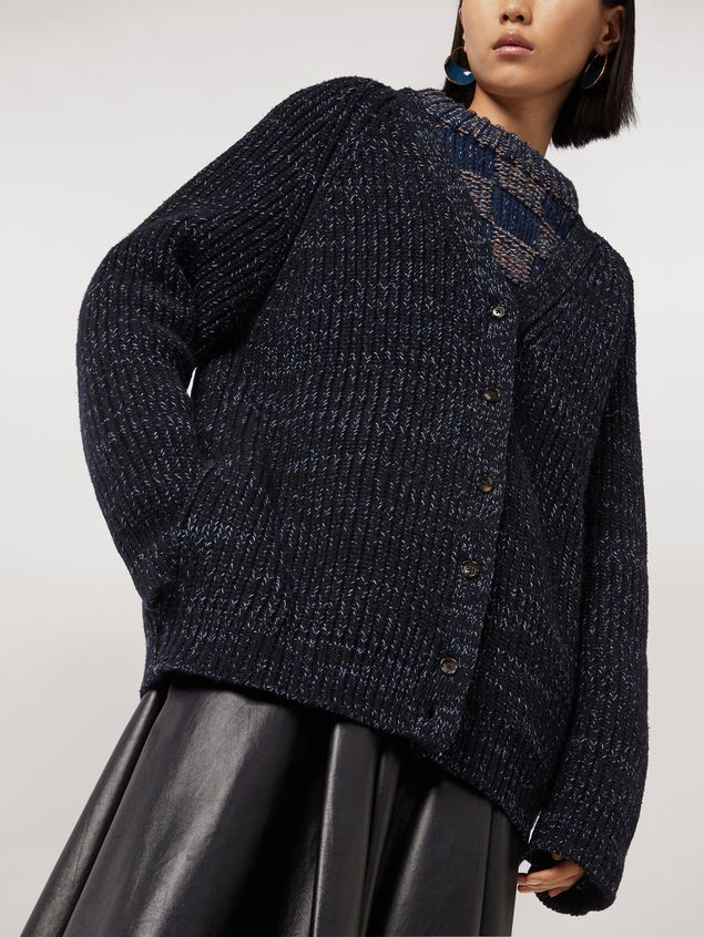 Marni Ribbed cardigan in virgin wool Woman - 4