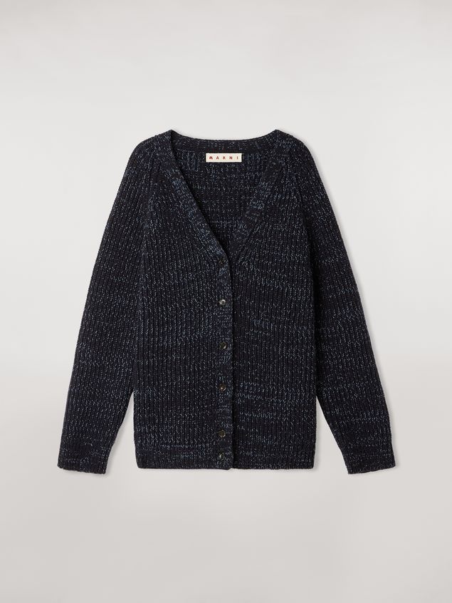 Marni Ribbed cardigan in virgin wool Woman - 2