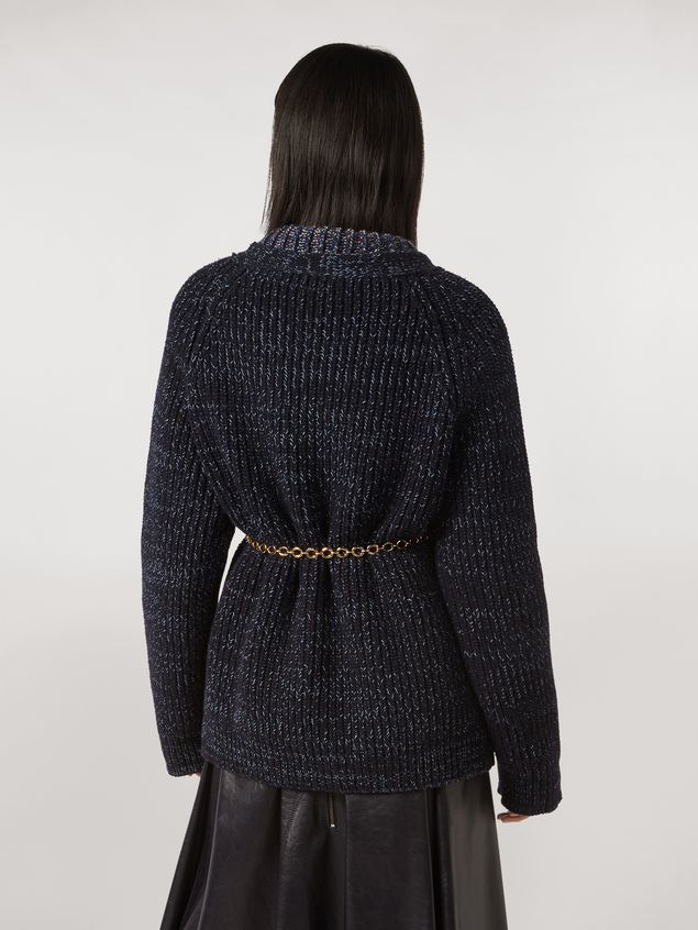 Marni Ribbed cardigan in virgin wool Woman - 3