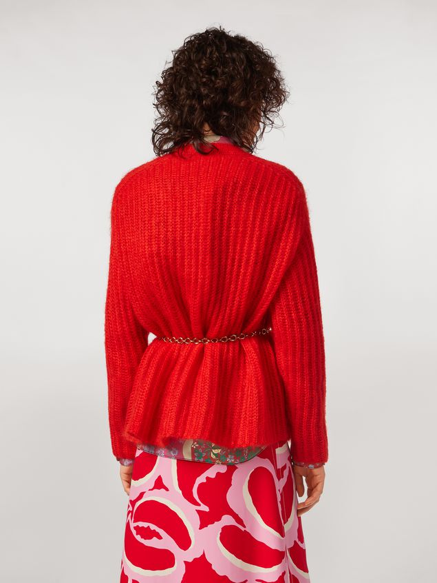 Marni Ribbed cardigan in mohair Woman