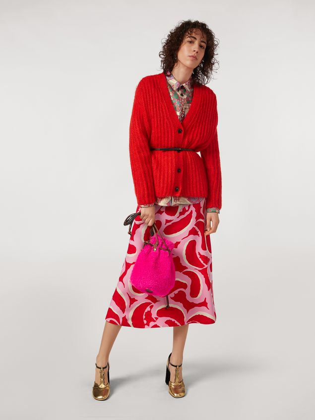 Marni Ribbed cardigan in mohair Woman - 5
