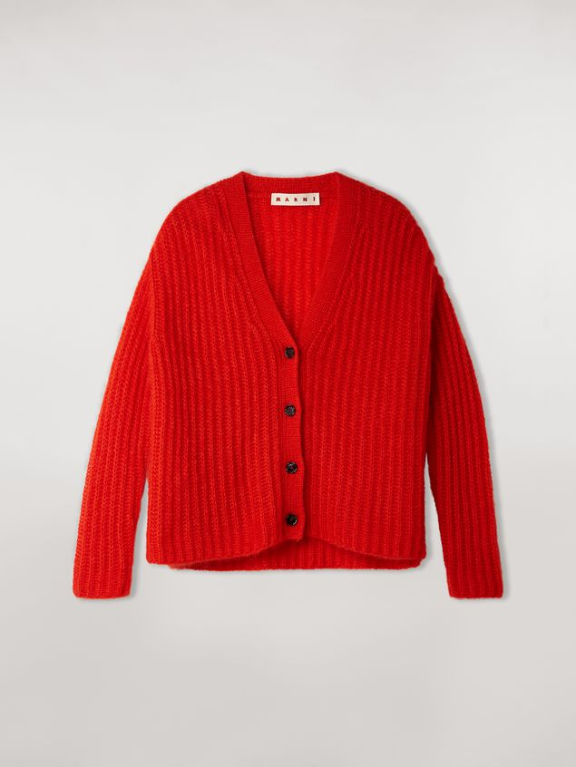 Marni Ribbed cardigan in mohair Woman - 2