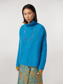 Marni Ribbed turtleneck in mohair Woman
