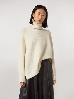 Marni Mixed-stitch turtleneck in cashmere blend Woman