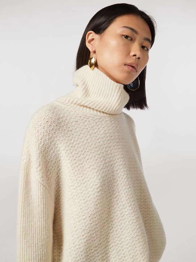 Marni Mixed-stitch turtleneck in cashmere blend Woman - 4