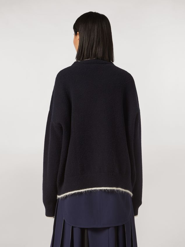 Marni Virgin wool mohair and nylon sweater with contrasting-colored stripe Woman