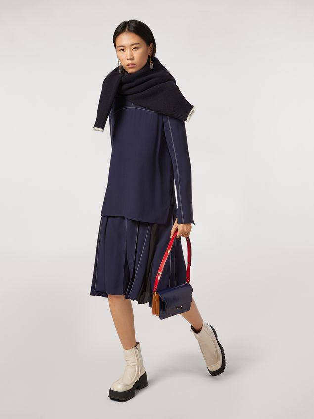 Marni Virgin wool mohair and nylon sweater with contrasting-colored stripe Woman - 5