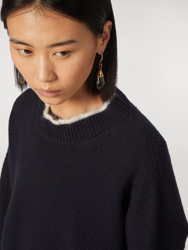 Marni Virgin wool mohair and nylon sweater with contrasting-colored stripe Woman - 4
