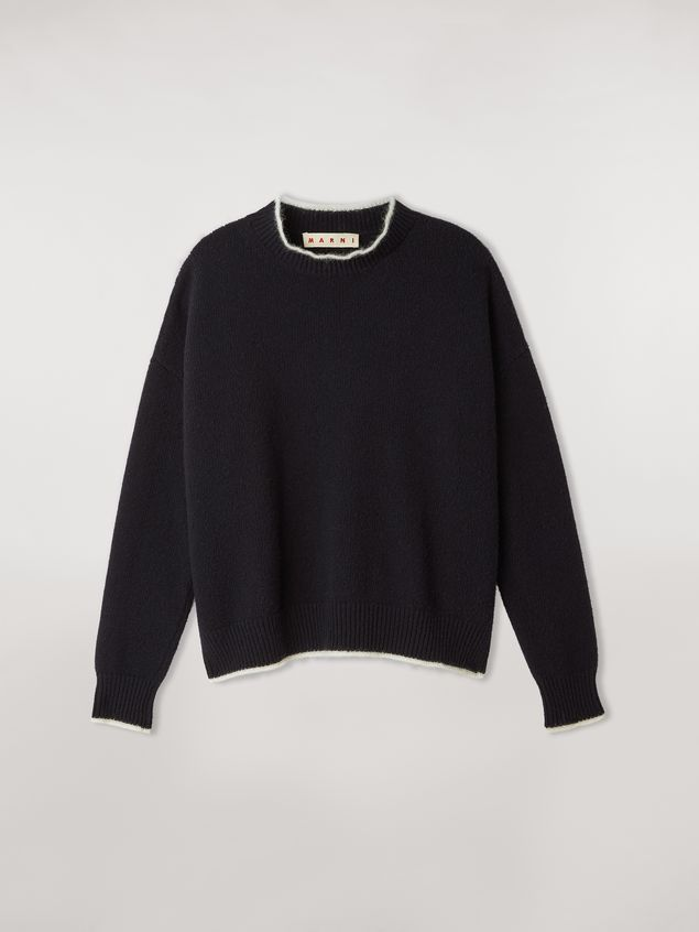 Marni Virgin wool mohair and nylon sweater with contrasting-colored stripe Woman - 2