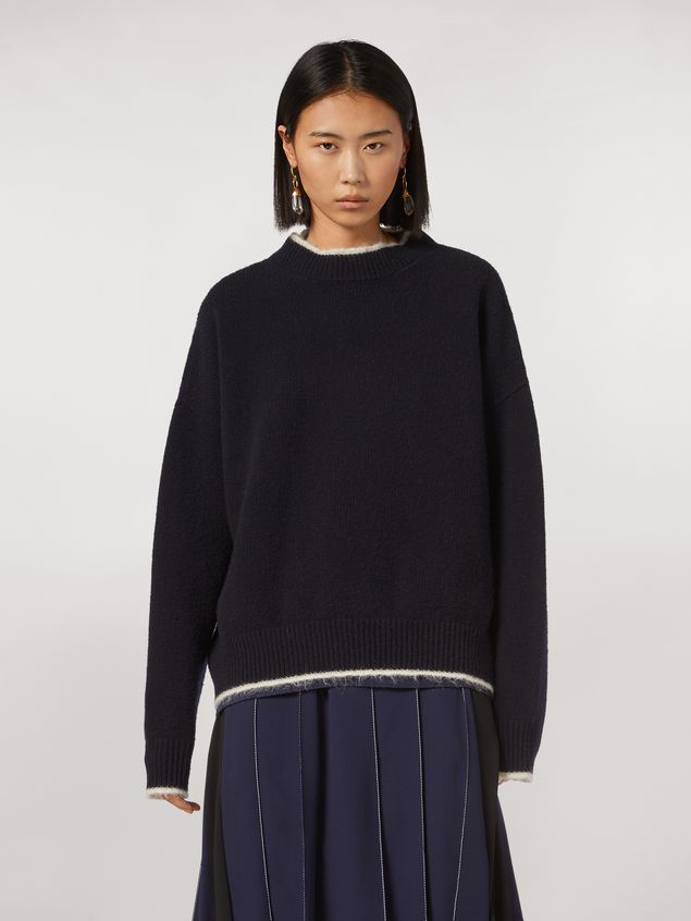 Marni Virgin wool mohair and nylon sweater with contrasting-colored stripe Woman - 1