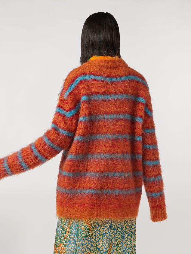 Marni Fur-effect striped mohair sweater  Woman