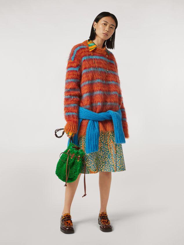 Marni Fur-effect striped mohair sweater  Woman - 5