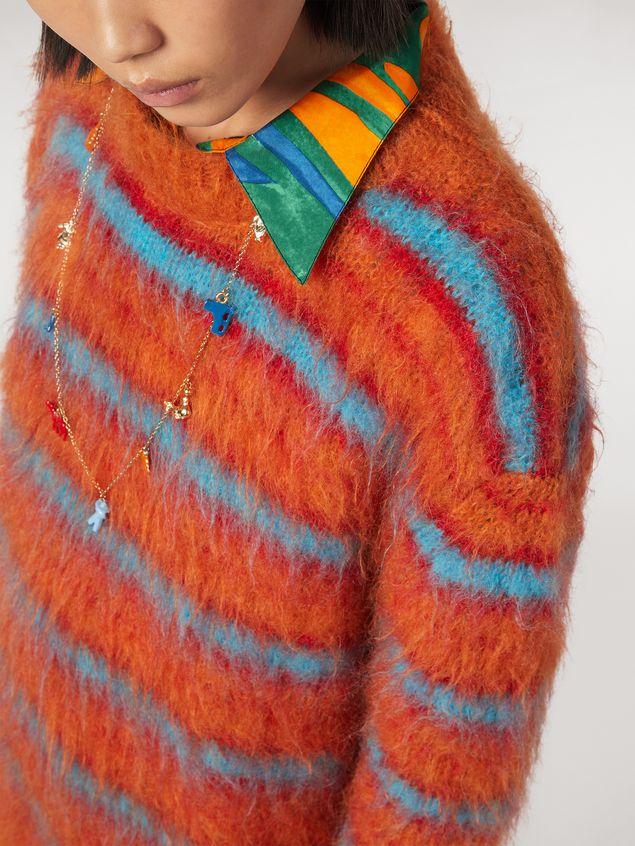 Marni Fur-effect striped mohair sweater  Woman - 4