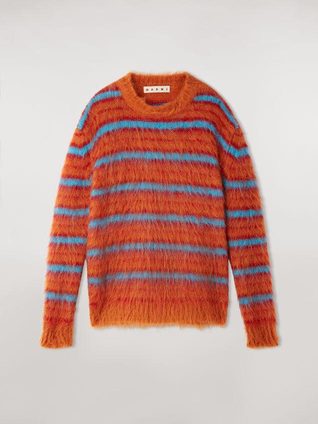 Marni Fur-effect striped mohair sweater  Woman - 2