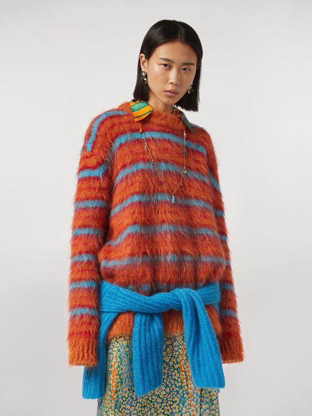 Marni Fur-effect striped mohair sweater  Woman - 1