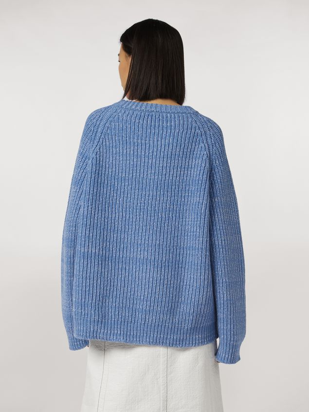 Marni Ribbed crewneck knit in virgin wool Woman