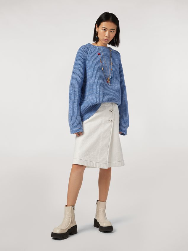 Marni Ribbed crewneck knit in virgin wool Woman - 5