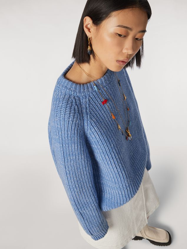 Marni Ribbed crewneck knit in virgin wool Woman - 4