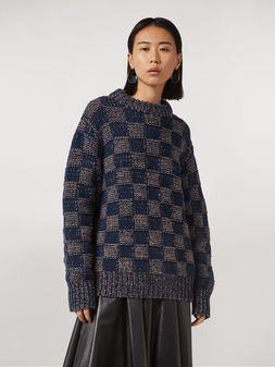 Marni Crewneck knit in virgin wool Woman