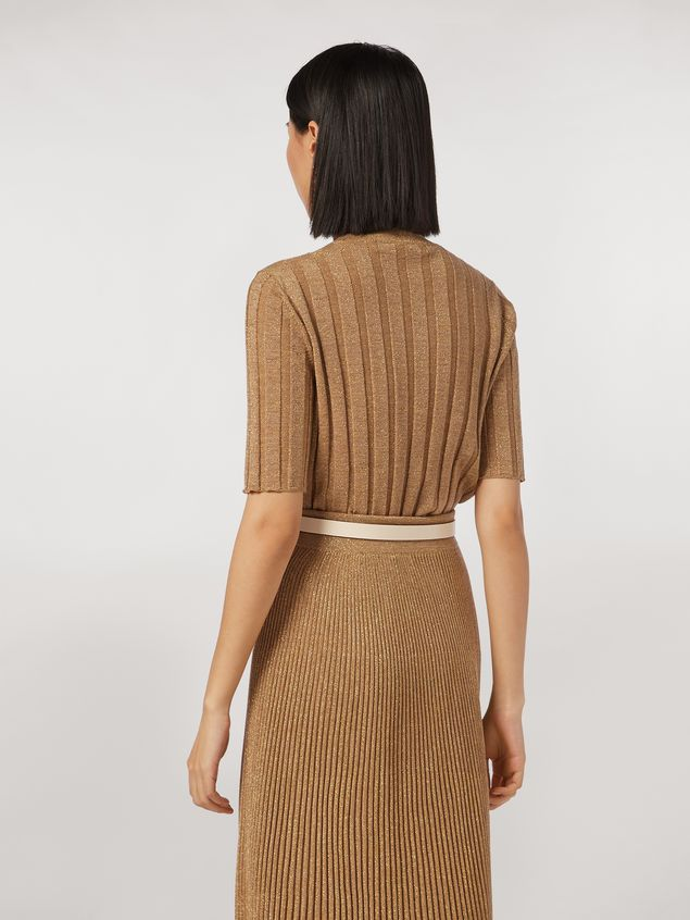 Marni Lurex ribbed crew neck sweater Woman