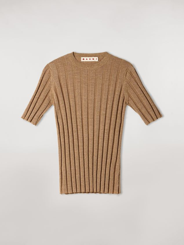 Marni Lurex ribbed crew neck sweater Woman - 2