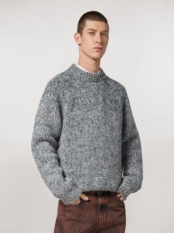 Marni Shaded wool and mohair sweater Man f