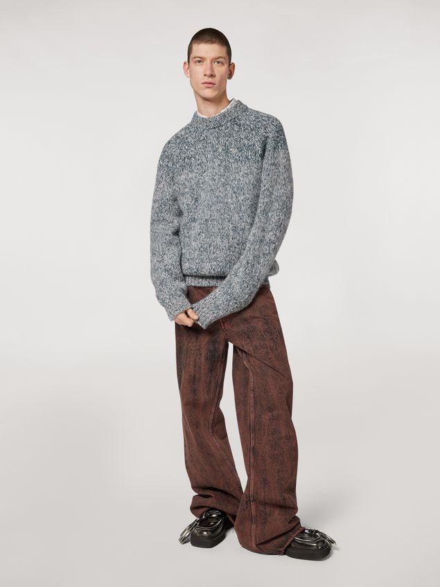 Marni Shaded wool and mohair sweater Man - 5